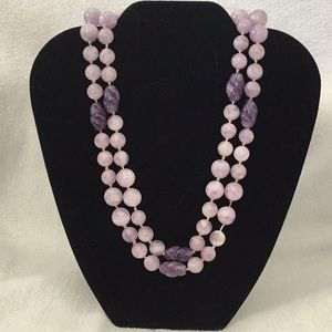 Lavender Jade and Amethyst Necklace